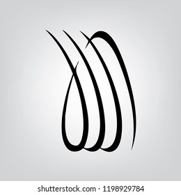 Religious sign. Islam. Calligraphy of the name Allah. Vector Format.