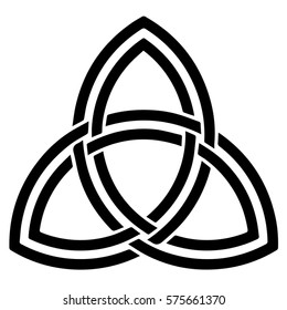 Religious sign. Wicca and Neopaganism. Triquetra (Celtic). Vector Format.