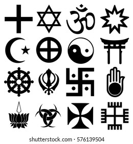 Religious signs. Others and mixed symbols. Vector Format.