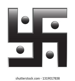 A religious swastika design isolated on a white background