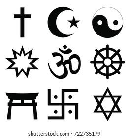 Religious Symbols Vectors