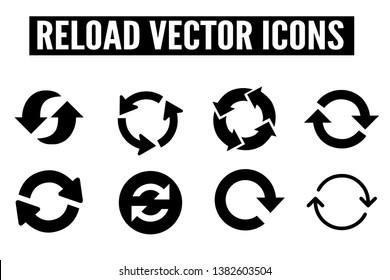 Reload arrow icons - vector