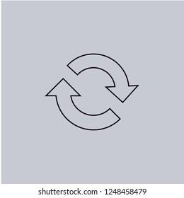 Reload icon isolated on grey background.Premium symbol for website design, mobile application, logo, ui.Vector illustration. Eps10