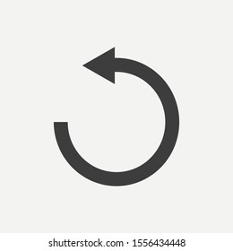 Reload icon isolated on white background. Vector illustration. Eps 10.