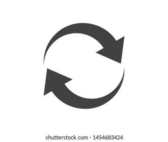 Reload icon. Repeat icon. Refresh icon.