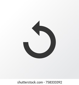 Reload Icon Symbol. Premium Quality Isolated Rotate Left Element In Trendy Style.