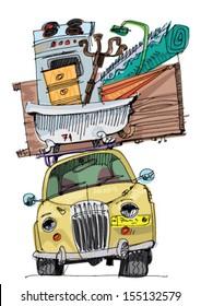 relocation - cartoon
