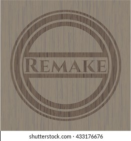 Remake retro style wood emblem