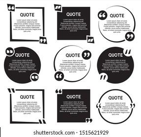 Remark Quote Template Design Bubble