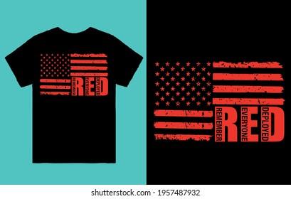 Remember everyone deployed - flag t shirt design vector