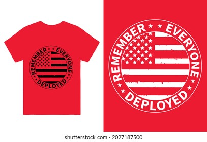 Remember Everyone Deployed T-Shirt Vector, R.E.D Friday shirt, Military Mom Shirt, Dad Shirt, Military Gift, Mom Gift From Daughter, Mom Shirt Plus Size T-Shirts