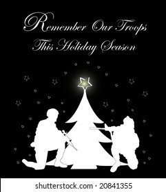 """""""Remember Our Troops"""" holiday card"""