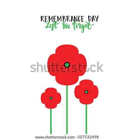 Remembrance day poppies isolated remembrance day stock vector remembrance day poppies isolated remembrance day poppy card remembrance day lettering remembrance day canada mightylinksfo