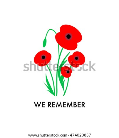 Remembrance day poppies on white background stock vector royalty remembrance day poppies on white background remembrance day poppy card we remember remembrance day mightylinksfo