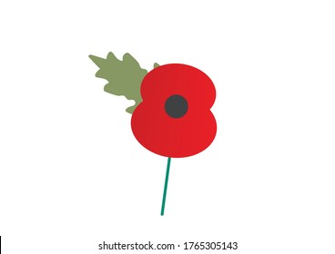 Remembrance Day poppy appeal paper poppy vector