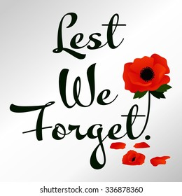 Remembrance Day Vector Template