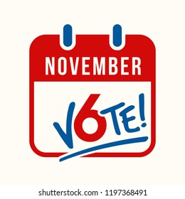 reminder to vote in the United states midterm election on November 6th. banner, poster design