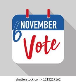 reminder to vote in the United states midterm election on November 6th