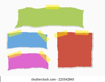 reminders on white background with clipping path