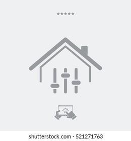 Remote control application for home - Vector web icon