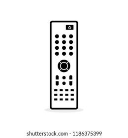 Remote control. Flat icon. Black thick line. TV remote controller. Vector illustration, flat design