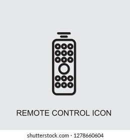 remote control icon . Editable outline remote control icon from smarthome. Trendy remote control icon for web and mobile.