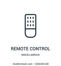 remote control icon vector from miscellaneous collection. Thin line remote control outline icon vector illustration. Linear symbol for use on web and mobile apps, logo, print media.