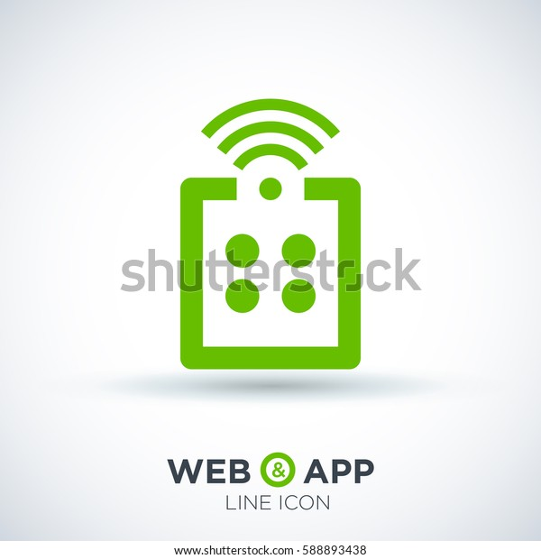 Remote control isolated minimal icon. game line vector icon for websites and mobile minimalistic flat design.