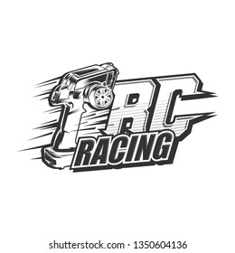 Remote control rc car racing vector, RC car racing logo