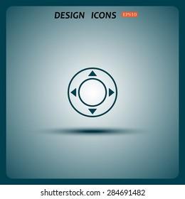Remote controller's dial, knob, joystick template. icon. vector design