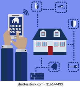 Remote home security from mobile phone