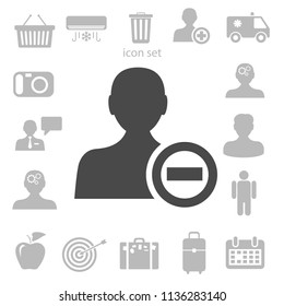 Remove contact icon. vector illustration