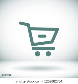 Remove from Shopping Cart  icon. Vector  Eps 10