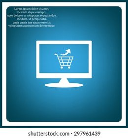 remove from the shopping cart. icon. vector design