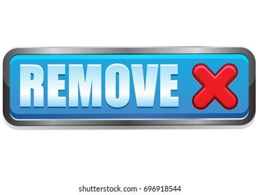 Remove vector button icon
