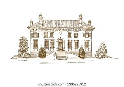 Renaissance Italian Villa.