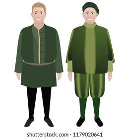 Renaissance Merchant Character Illustration