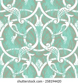 Renaissance Period Inspired Square Ornament Background Pattern