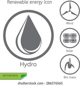 Renewable energy icon set vector eps10
