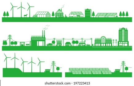 Renewable energy. Life of the city and the countryside