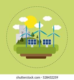 renewable energy solar wind city