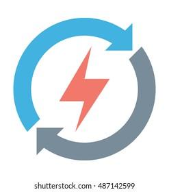 Renewable Energy Vector Icon