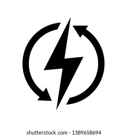 Renewable energy vector icon illustration