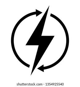 Renewable energy vector symbol isolated on white background