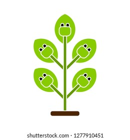 renewable-energy pictogram icon - renewable-energy pictogram isolate, green power illustration- Vector ecology