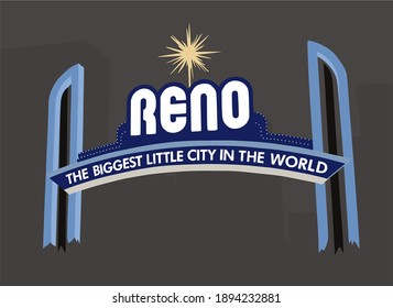 Reno gate background with black background