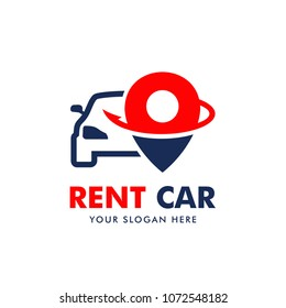 Rent Car Logo Design Vector