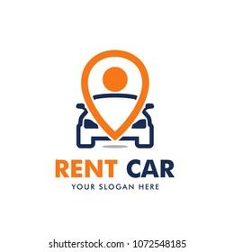 Rent Car Logo Design Vector