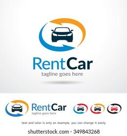 Rent Car Logo Template Design Vector