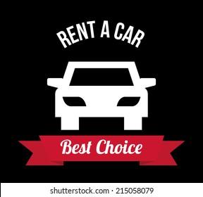 rent a car over black background vector illustration